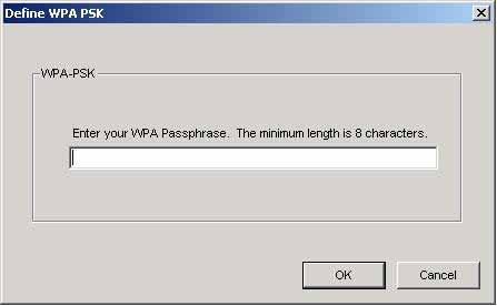 5. If selecting WPA or 802.