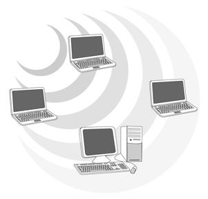 Wireless devices can communicate with each other or can communicate with a wired network.