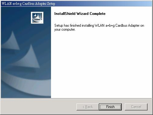 Insert the Adapter into the Cardbus slot, and the Windows Operating System will find the