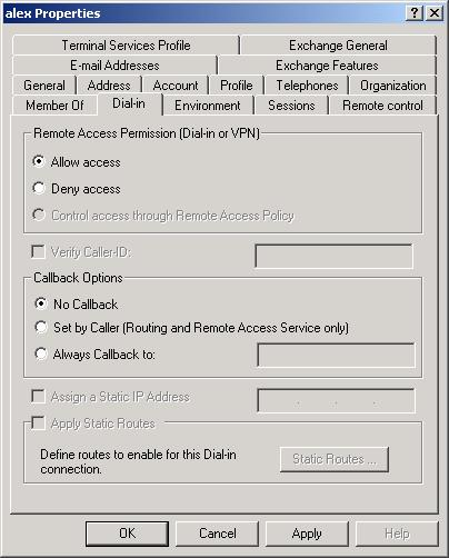 Other Settings & Features Remote Access Login for Users 1. Select Start - Programs - Administrative Tools- Active Directory Users and Computers.