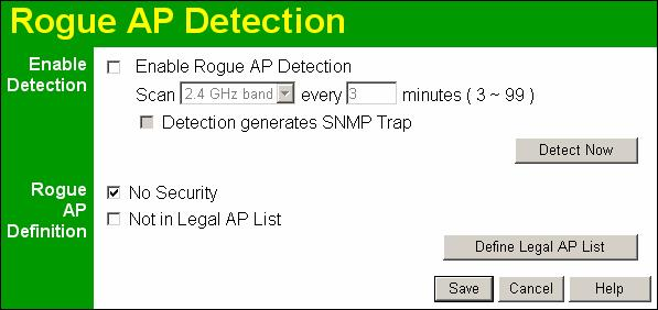 "Wireless Access Point User Guide Rogue APs A ""Rouge AP"" is an Access Point which should not be in use, and so can be considered to be providing unauthorized access to your LAN."