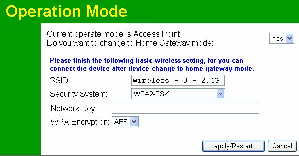 Wireless Access Point User Guide Security System WPA2-PSK Figure 69: Operation Mode-WPA2-PSK Screen Data Security System-WPA2-PSK Screen WPA2-PSK Network Key WPA Encryption Enter the key value.