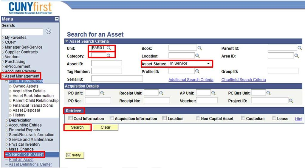 CUNYfirst Asset Management Quick Reference Guide - PDF