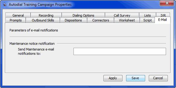 Setting the Fast Voice Detection Level Use the Fast Voice Detection Level setting (Autodial Campaign Properties window, the Dialing Options tab).