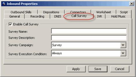 Configuring Post-Call Surveys Configuring Post-Call Surveys The feature allows post-call surveys in the IVR.