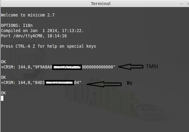 TMSI AT+CRSM=176,28448,0,0,9 * Here we can identify the KC key