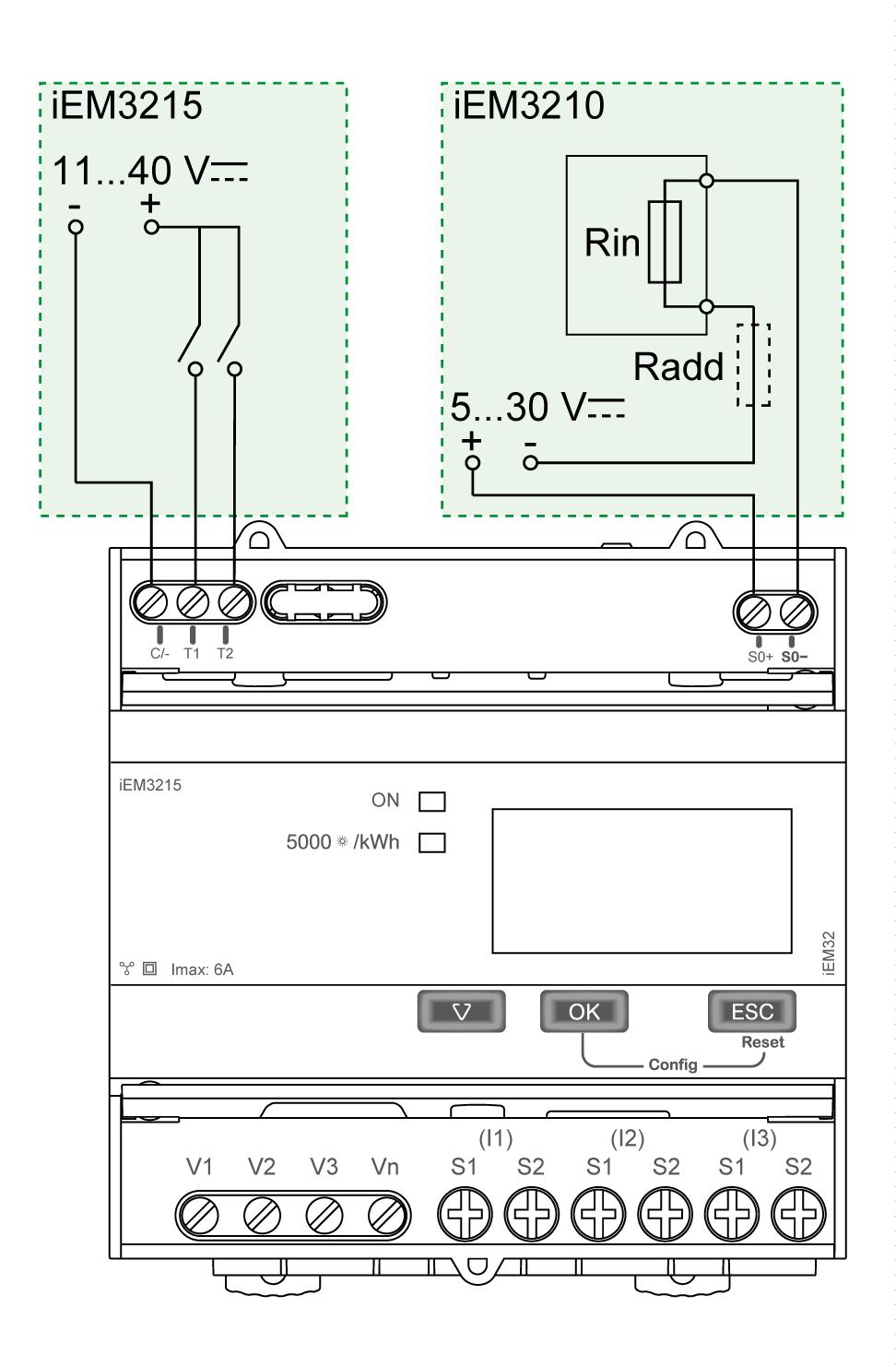 Iem3100 Series Iem3200 Pdf Wiring Modbus Connection Diagram Energy Meter Installation Of Iem3210 Iem3215 Note The Electrical
