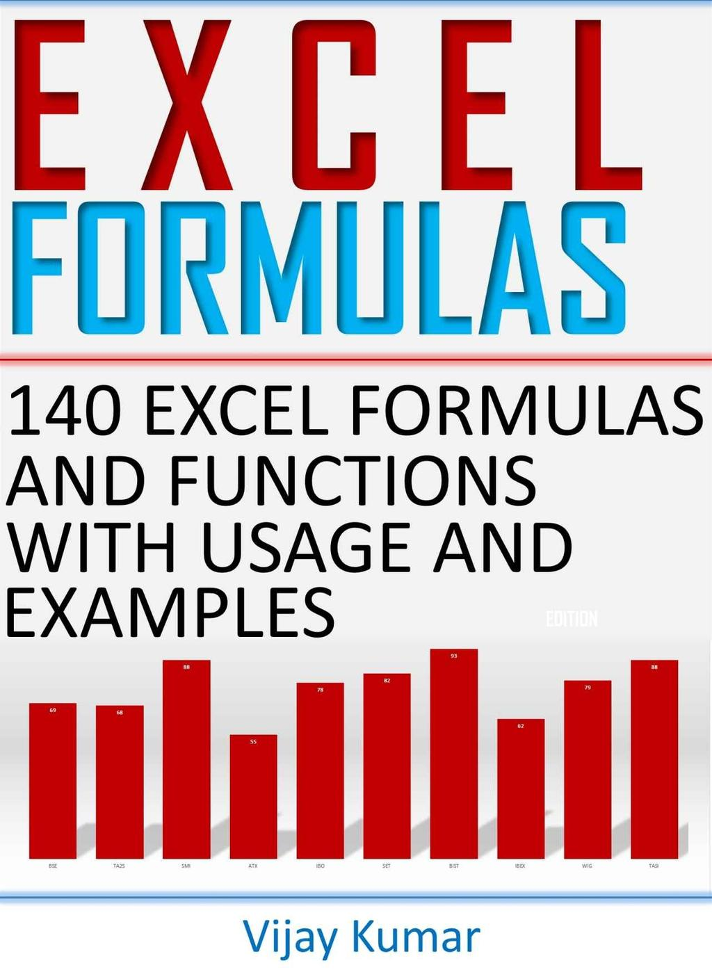Excel formulas 140 excel formulas and functions with usage and transcription ibookread PDF