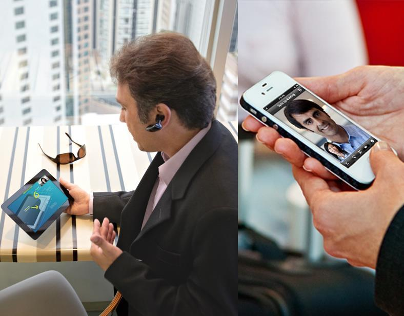 Better Collaboration for Mobile Workers Be productive, regardless of location Access voice, video, messaging, and conferencing applications on any device