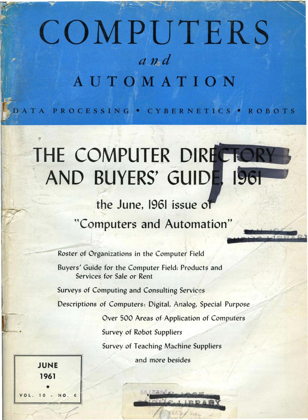 The Computer Dir And Buyers Guid Pdf Nema 6 20p Wiring Diagram Moreover L6 30 Besides June 1961 Issue 0 Hcomputers Automation