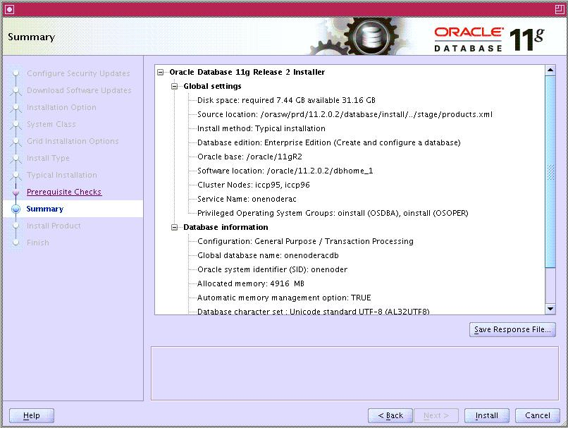 Oracle Database 11g Release 2 version Enterprise Edition