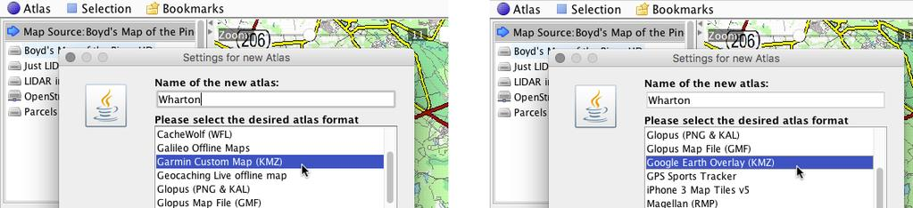 Using Mobile Atlas Creator with Boyd's Maps Version 1 05, by Boyd