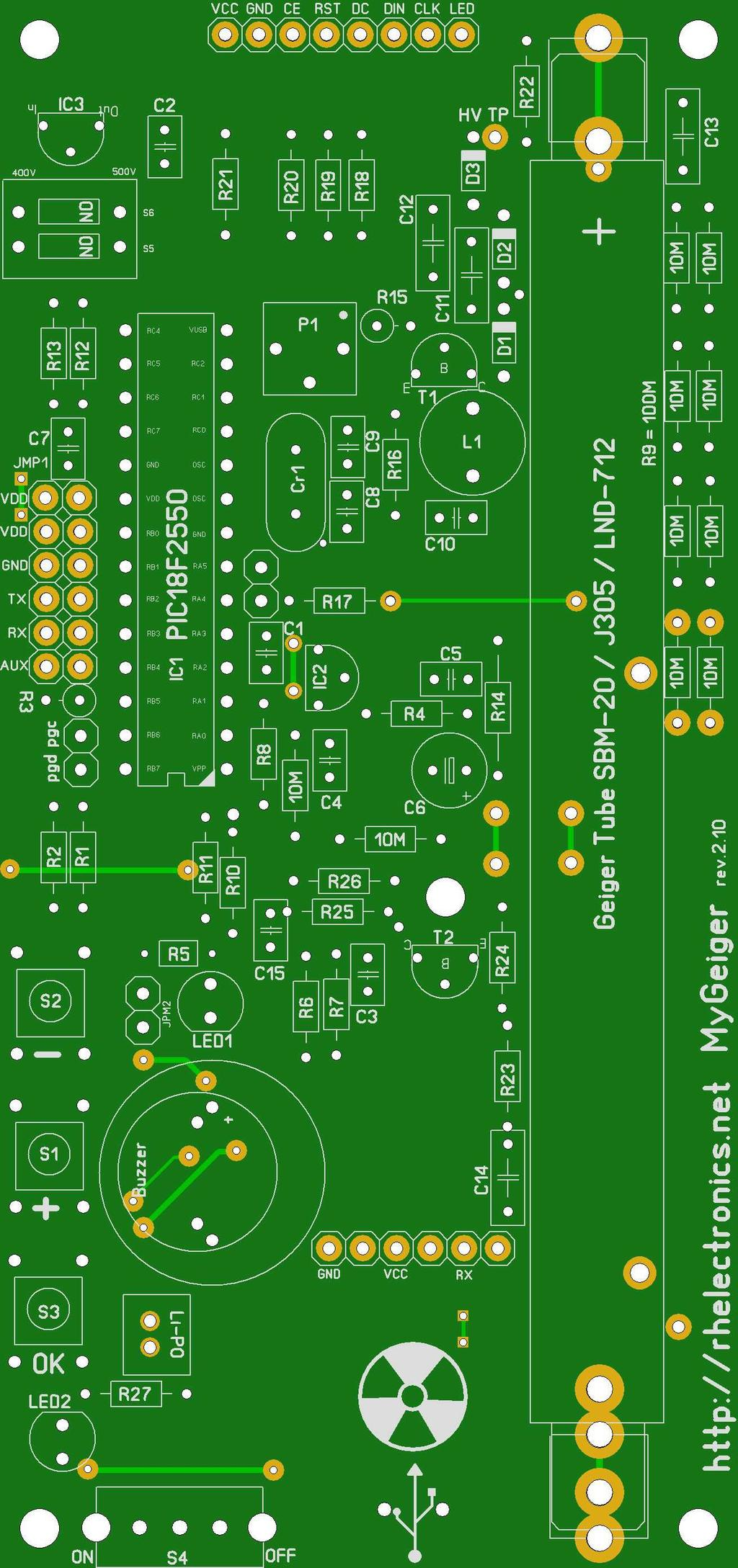 Diy Geiger Counter Module Mygeiger Ver Manual For Pcb Edition Pdf Circuit 13