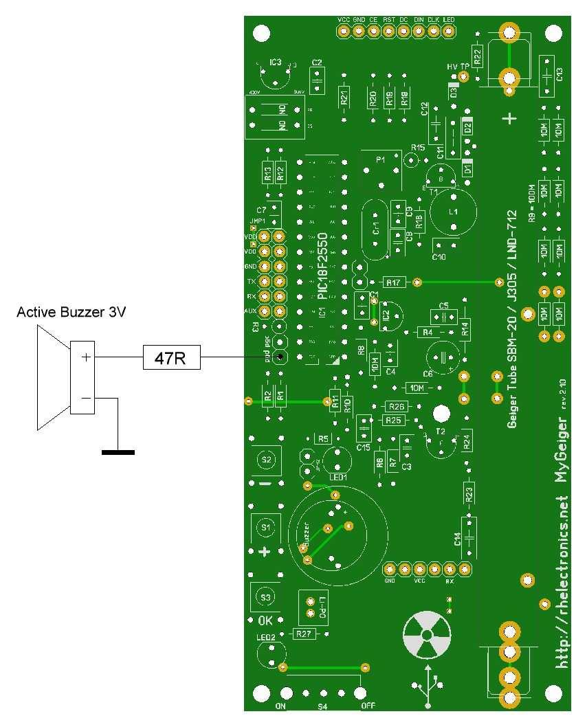Diy Geiger Counter Module Mygeiger Ver Manual For Pcb Edition Pdf Wiring Diagram Dave Kindly Provided The Installation Above His Enclosure Design You