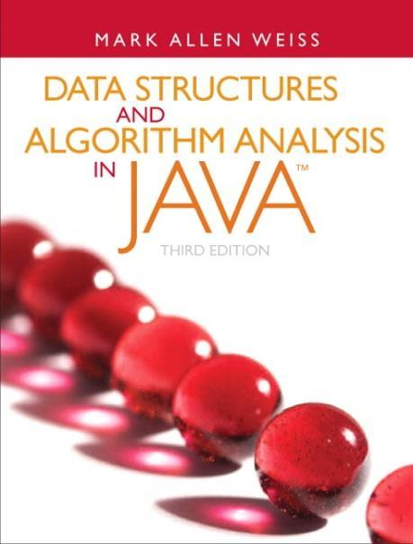 Text and Recommended References 6 Required: Data Structures and Algorithm Analysis in Java, 3rd Edition Mark Allen Weiss, Addison-Wesley, 2012 ISBN
