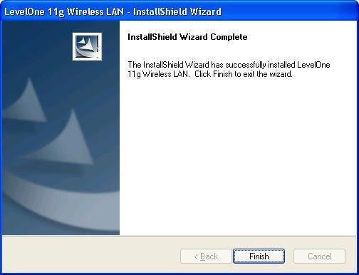8. Insert the USB adapter into USB port when installation procedures are completed. 9. The Windows Found New Hardware wizard will prompt and then install the software automatically. 10.