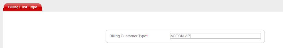 In the Billing Customer Type field, type the name of the customer type and click Save. b.