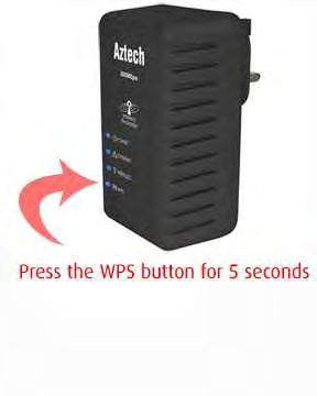 Simply press the WPS button on the repeater and press the WPS button on