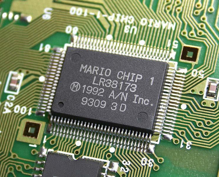 "Development history Some early cartridges of Star Fox shipped with a Super FX processor that was marked ""MARIO CHIP 1"" The Super FX chip was originally called the MARIO Chip 1 (Mathematical,"
