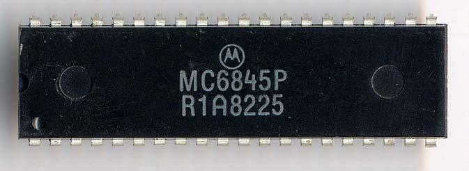 Chapter 12 Motorola 6845 and Motorola 6847 Motorola 6845 Motorola 6845 CRT controller The Motorola 6845 (commonly MC6845) is a video address generator first introduced by Motorola and used among