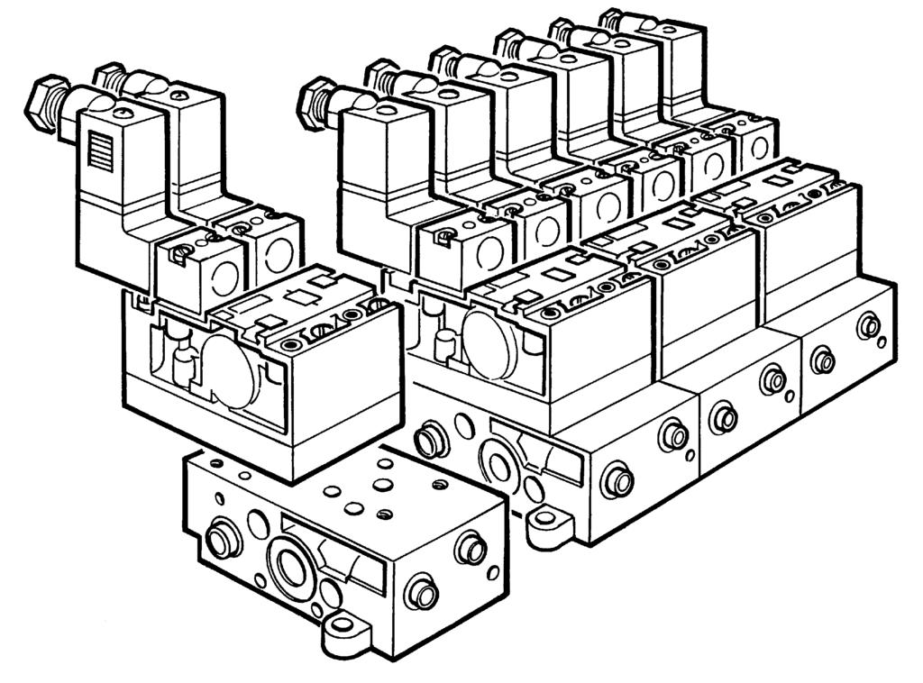 Electropneumatic Miniature Control Valves Mounting Connectors
