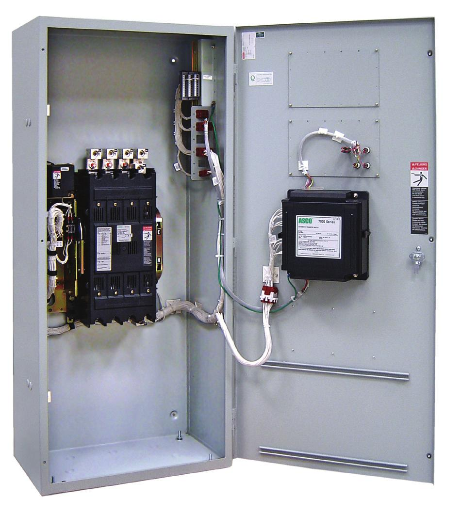 Asco 7000 Series Power Transfer Switch Pdf Wiring Diagrams Further Automatic Both Types Are Electrically Operated For Switches The Controller Initiates