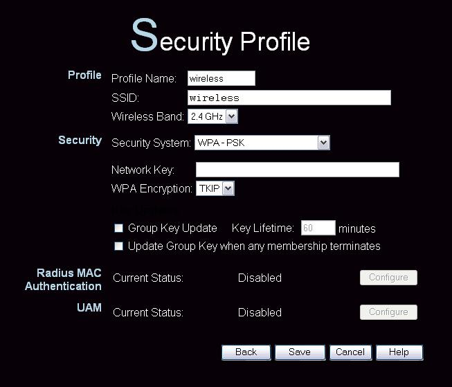 Access Point Setup Security Settings - WPA-PSK Like WEP, data is encrypted before transmission. WPA is more secure than WEP, and should be used if possible.