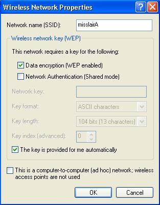 Select and enter the correct values, as advised by your Network Administrator.