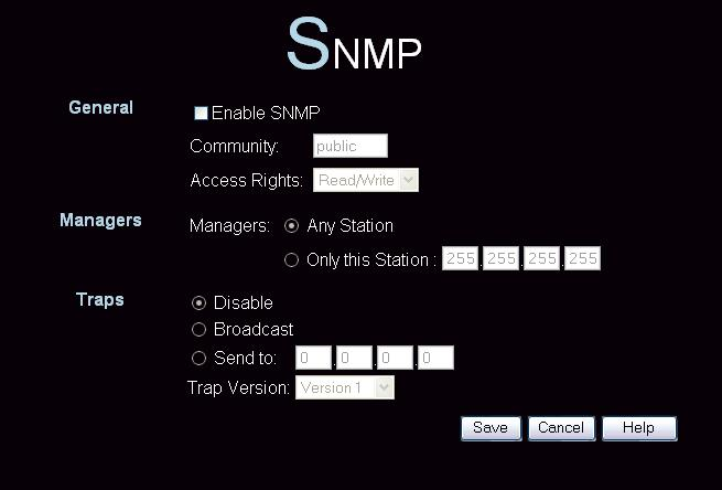 Wireless Access Point User Guide SNMP SNMP (Simple Network Management Protocol) is only useful if you have a SNMP program on your PC.
