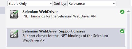 Getting Started 6. Select Selenium WebDriver from the list and click on the Install button. Repeat this step for Selenium WebDriver Support Classes.