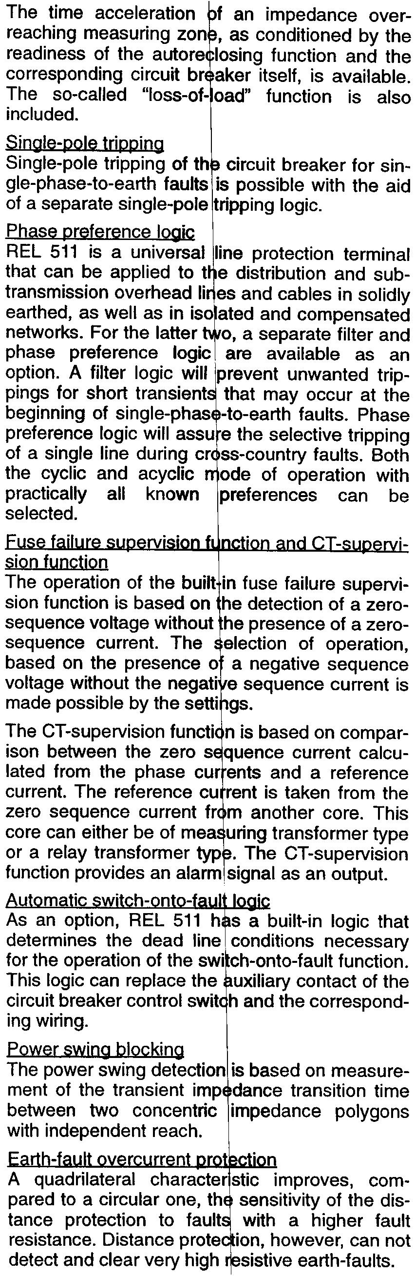 Line Distance Protection Se Pdf Circuit Breakers Gt Id Series Earth Leakage Breaker The Basic Version Of A Rel 511 Provides Threephase Tripping Single Phase For