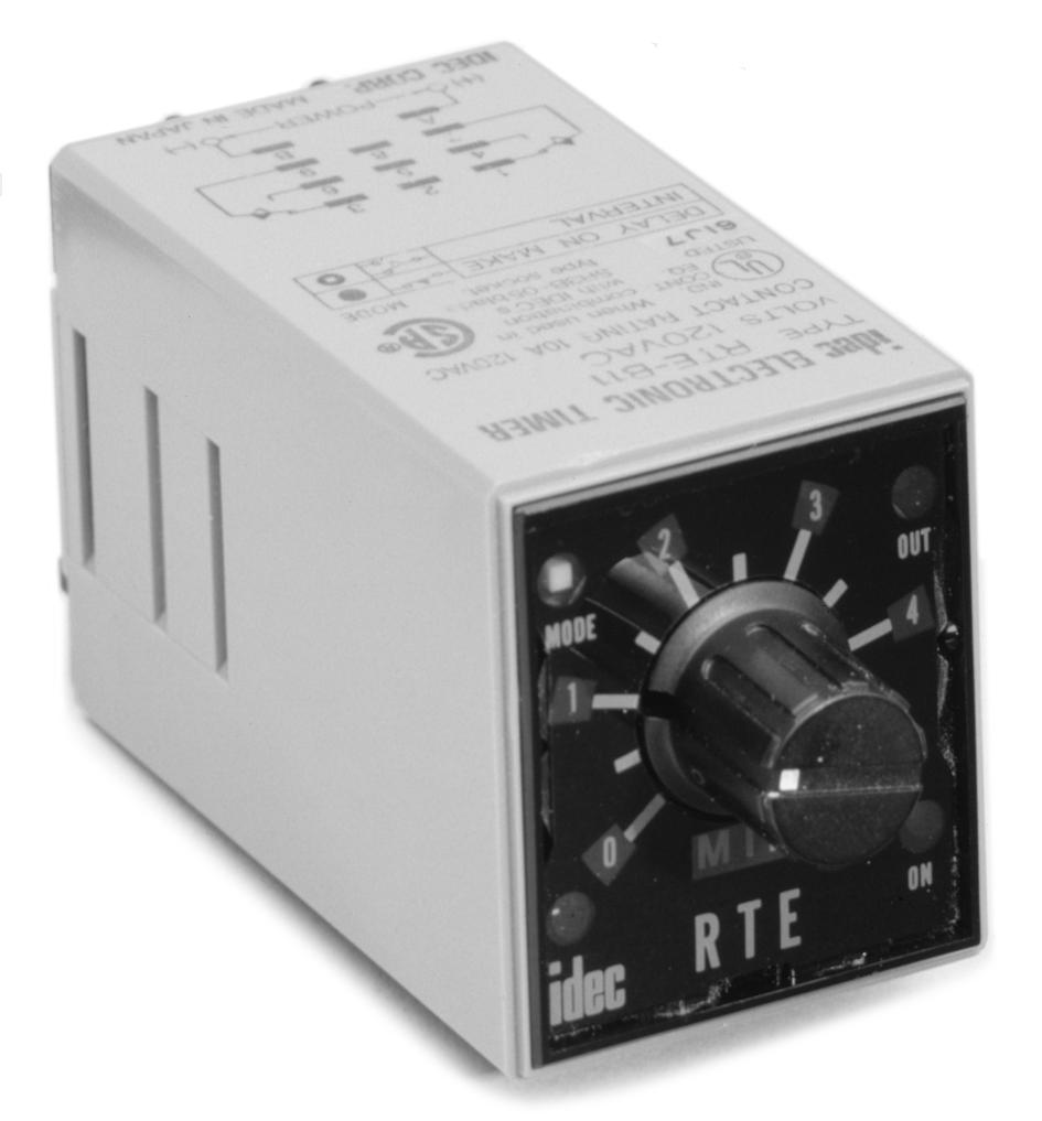 Timers Rte Series Analog Specifications G 8 Idec Pin Relay Wiring Diagram Key Features Of The Include Time Ranges And Timing Functions On