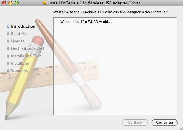 3. Installation for Mac OS 3.1. Installing the Drivers Follow the steps below in order to install the USB adapter drivers: 1. Insert the CD that was provided to you in this package.