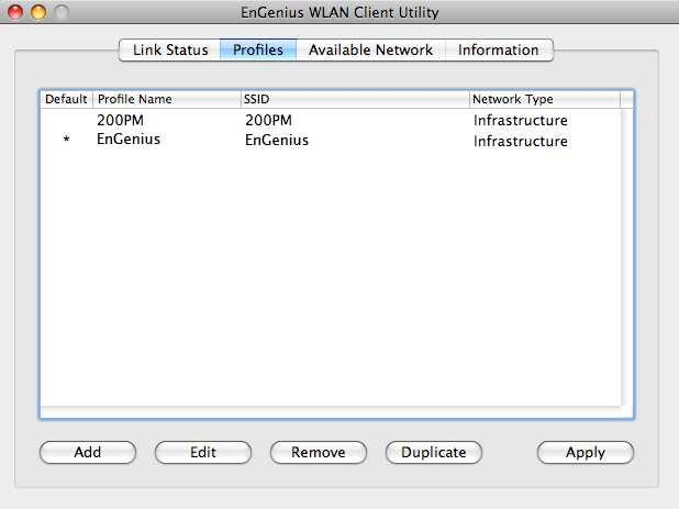 3.3. WLAN Client Utility - Profiles The Profile tab is used to store the settings and configurations of multiple Access Points for different application.
