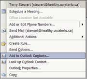 How to create an address entry in Outlook In Outlook the address book is called Contacts To create a new Contact go to File New Contact To
