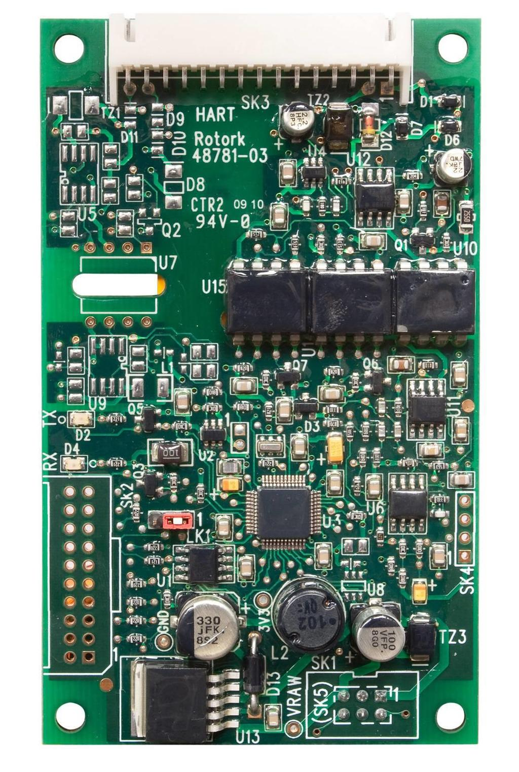 Hart Actuator Field Unit Technical Manual Iq Iqt 3 Rd Generation Dvc 2000 Positioner Wiring Diagram 22 Mechanical Properties The Hfu Board Is A Single Printed Circuit Which Fitted To