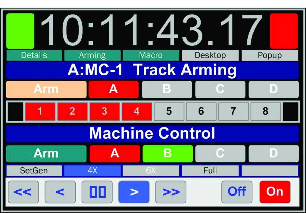 Output: Follows master position and Offset Timecode Input: Chase remote code 1U Rack Mount, Mounts the Machine Room Optional Front Panel: System setup and check from Machine Room RM-6 Rack Mount