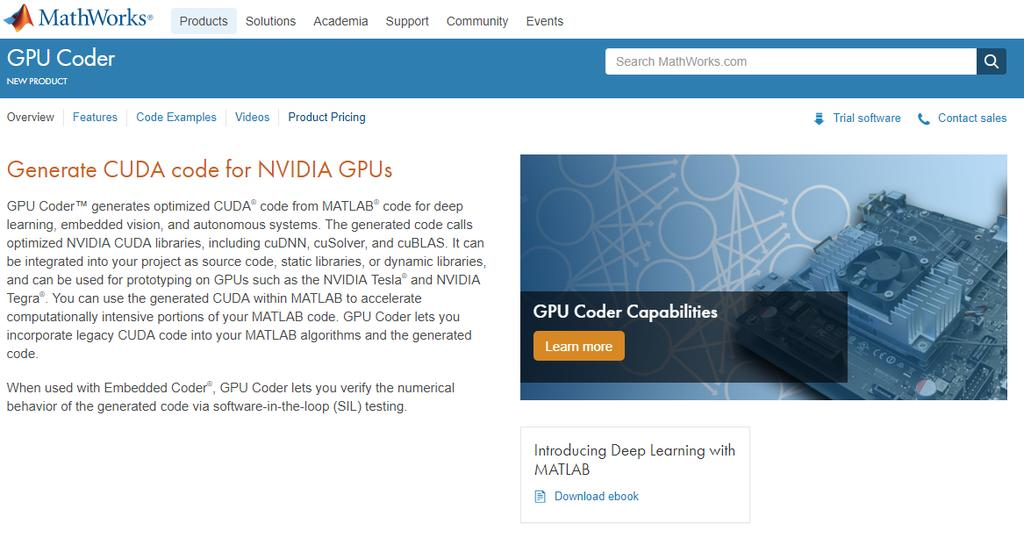 Deep learning in MATLAB From Concept to CUDA Code - PDF
