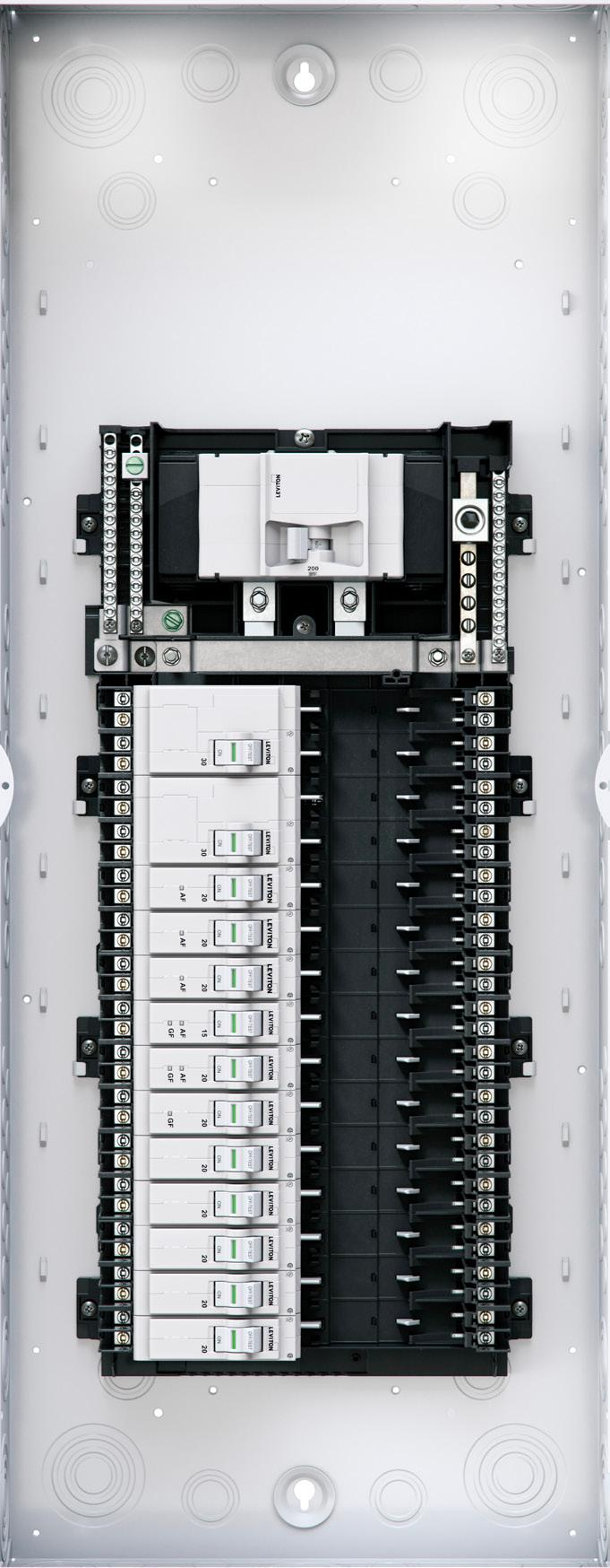 The Leviton Load Center Future Made Current Pdf Afci Breaker Box Including Ge Circuit Breakers Safety Priority One As Electrical Hub Of Home Starts At