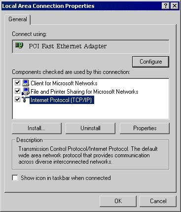 Wireless Router User Guide Checking TCP/IP Settings - Windows 2000: 1.