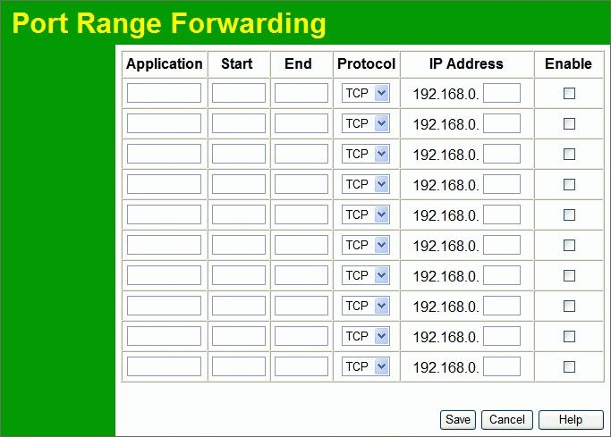 Wireless Router User Guide Port Range Forwarding This feature allows you to make Servers on your LAN accessible to Internet users.