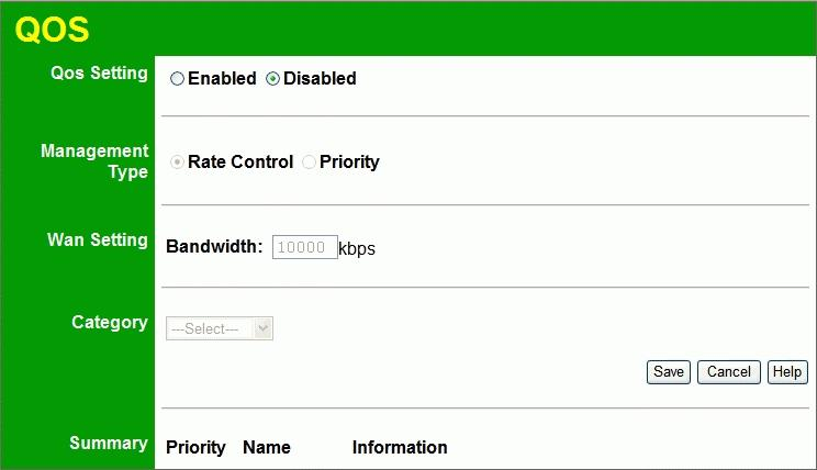 Advanced Features QoS The QoS (Quality of Service) feature allows you specify priorities for different traffic.
