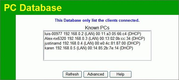 "Wireless Router User Guide PC Database The PC Database is used whenever you need to select a PC (e.g. for the ""DMZ"" PC). It eliminates the need to enter IP addresses."