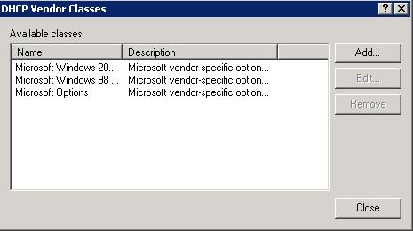 vendor-specific In our example, the command returns the following value: Vendor Class Id = HP J9729A