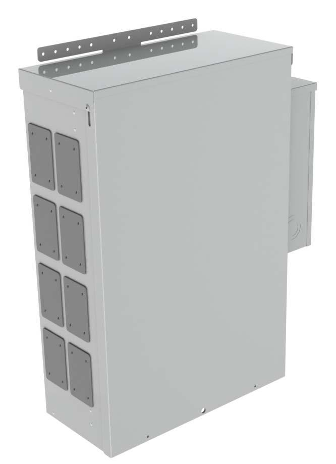 TEMPORARY POWER PANEL - METERED PWC-07-M This metered wall, pole or plywood mounted power panel is the solution for temporary power requirements.