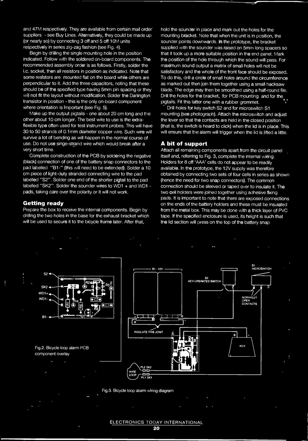 M Mory Alloys Shape Lips Electronics Today International Of The 1986 Fiat X1 9 Rear Tail Stop Fuse Box Diagram Begin By Drilling Single Mounting Hole In Position Indicated Follow With Soldered