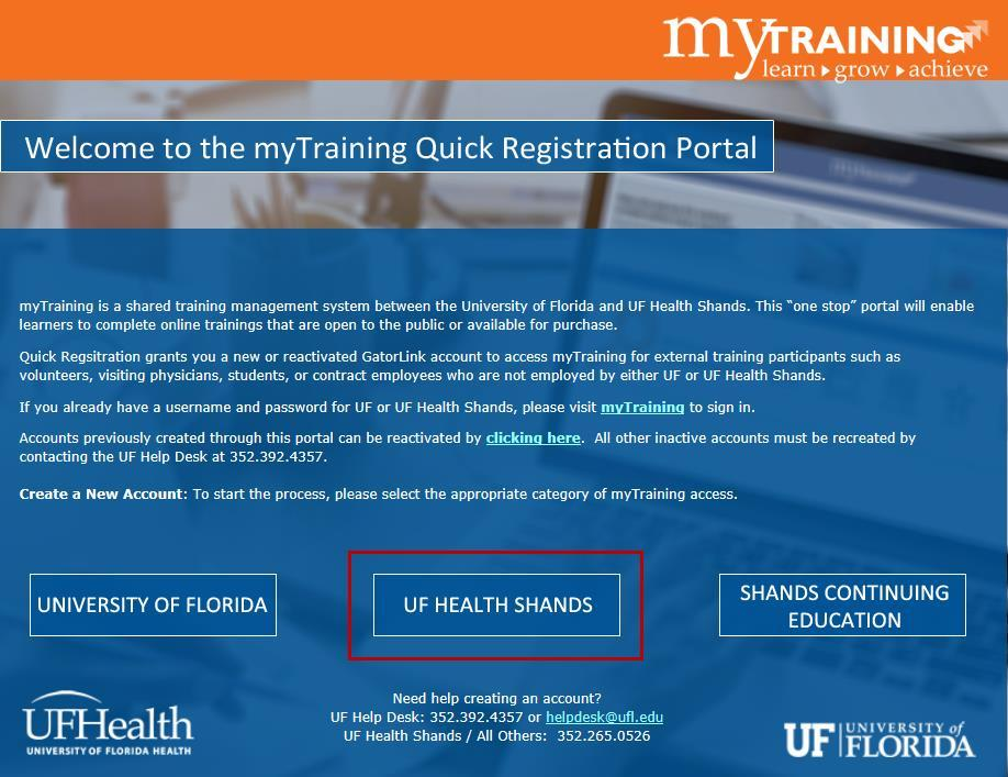 Creating a mytraining Learner Account - PDF