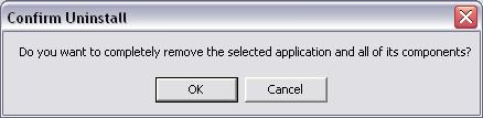 A message will then appear asking to you confirm the Uninstallation. Click on the OK button. 11. The Client Utility will then begin to uninstall.