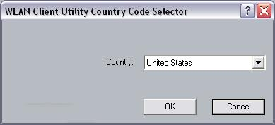 Appendix A Country Selection Follow the steps below in order to use the country selection option. To launch the Client Utility click Start > Programs > IEEE 80211 > 802.11 WLAN NIC Utility.
