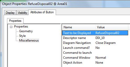 Exercise 10: Create and deploy Faceplates 7. In the Refusedisposal02@Area01 properties form, click the Attributes of Button tab. In the left pane, click Style.